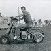 Kermit M. Brown on his Cushman Eagle scooter - Jacksonville