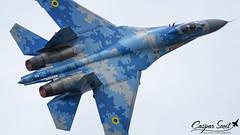 Ukrainian Monster (Caspar Smit) Tags: 58 blue58 sukhoi su27 flanker kleinebrogel aircraft fighter jet aviation airplane airshow nikon d7000 ebbl