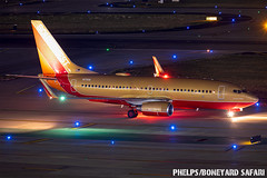 DAL (zfwaviation) Tags: kdal dal dallas love field president donald trump rally visit texas af1 air force one vc25 747 airplane plane night exposure swa southwest wn 737