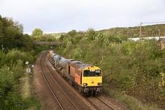 20314 tnt 20302 Chapeltown 18 Oct 19 (doughnut14) Tags: 3s14 20314 20302 rail diesel loco needle drs chapeltown rhtt cum hull bridlington