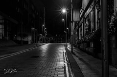 City of Glasgow. (Joe the Toff) Tags: cityofglasgow bw scotland nightphotography citystreets