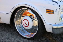 Cool Rims, Bro (Pomona Swap Meet) Tags: pomonafavorites chevy chevyblazer k5blazer chevrolet carshow pomonaswapmeet classiccars classictrucks classiccarshow carshowphotography rims wheels patina