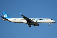 EC-LFZ | Air Europa Express | Embraer ERJ-195LR (ERJ-190-200 LR) | CN 19000357 | Built 2010 | MAD/LEMD 25/09/2019 | Operated by Aeronova (Mick Planespotter) Tags: aircraft airport 2019 nik sharpenerpro3 erj195 adolfosuárez madrid barajas madridbarajas spotter aviation avgeek plane planespotter airplane aeroplane eclfz air europa express embraer erj195lr erj190200 lr 19000357 2010 mad lemd 25092019 operated by aeronova flight