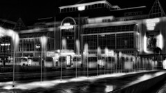 Late Evening in Sopot (rainerpetersen657) Tags: sopot poland polska polen baltic fountain фонтан springbrunnen blackandwhite bw noirblanc monochrome schwarzweiss sony sonyalpha longexposure travel