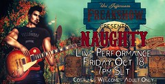 Naughty Freakshow Ad (Uri Jefferson) Tags: sl secondlife singers live singer performance concert naughty freakshow halloween costume party