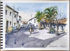 Casatejada 61. Calle de la Andariega. (f.gómezcorisco) Tags: castejao boceto dibujo casatejada cáceres extremadura eu españa acuarela campoarañuelo arquitectura pueblo rotulador