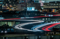 weekend transfers (pbo31) Tags: sanfrancisco california nikon d810 color october 2019 city boury pbo31 night black lightstream traffic roadway motion red potrerohill centralfreeway over cocacola billboard 101 80 somisspo