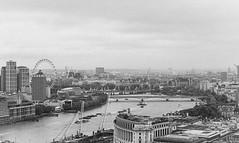 Soul of city (Janne Räkköläinen) Tags: uk london river thames londoneye oldstyle oldmood oldcity city cityview citylife cityviews cityriver soulofcity grain blackwhite blackandwhite bw bnw citycenter citypulse ama amateur amateurphotography amateurphotographing canon canon6d canonphotography canonphotographing ef24105l stpaulcathedral bridge bridges water