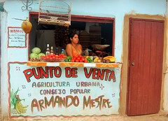 Trinidad with a Woman (feray umut) Tags: places portraits food people travel architecture culture cuba bird door
