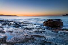 Blue Skies Sunrise Seascape (Merrillie) Tags: daybreak sunrise sea nature dawn centralcoast clearskies landscape northpearlbeach morning newsouthwales rocks pearlbeach nsw blue waves ocean rocky earlymorning water coastal waterscape outdoors seascape australia coast sky seaside