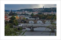 Four Bridges (prendergasttony) Tags: border bridges mosts prague praha vltava river nikon d7200 tonyprendergast elements europe landscape