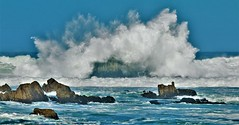 October18Image7345 (Michael T. Morales) Tags: pacificgrove wave rockformation ocean monterey