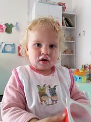 Daphne heeft toetje gegeten