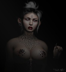 Haunted (Vanjah Rajal) Tags: secondlife sl closeup portrait dark goth gothic vampire
