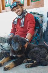 Friendly Mountain Pups ([Kevin] [McCarthy]) Tags: himalayan hike trek hiking trekking gaddi kutta dog pup petting cute smile smiles happy happiness furry rest uttarakhand india