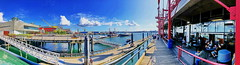 HFF! Panoramic view from Pier 7 to The Quay (+1) (peggyhr) Tags: peggyhr railings market pier7 dedication img5285y2 northvancouver bc canada pano super~sixbronze☆stage1☆ dslrautofocuslevel1 fence summer hff frameit~level01~ marina boats thegalaxystars1