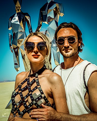 Together (WayneToTheMax) Tags: together art installation broken but michael benisty august 2019 nikon d750 portrait couple beauty fashion desert sun sunglasses shades glamour style burning man