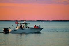 Sleek Lines Soft Colors Of Sunset Boating On Tampa Bay Florida - IMRAN™ (ImranAnwar) Tags: apollobeach boating clouds d850 dusk florida imran imrananwar lifestyle nikon sky sunset tampa water seascape seaside unitedstates