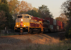 Fresh Heritage Unit (Ian_Asher) Tags: train canadian pacific emd golden hour railway tree minnesota sky sd70acu cp heritage unit