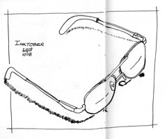 x-sk-eyewear (Douglas Thayer) Tags: douglasthayer sketch sketchbook glasses eyeglasses ink inkpen inktober2019 penandink