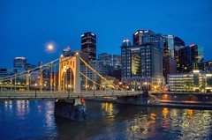 6th Street (Brook-Ward) Tags: hdr brook ward 6th street clemente bridge pittsburgh pitt burgh pgh 412 city cityscape skyscraper building evening night river citylife