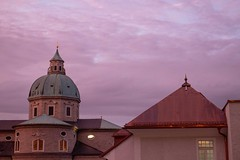Sunset on the Dom (Stuart Borrett) Tags: austria isem2019 salzburg dom cathedral church sunset sky clouds