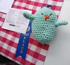 Retro Town Fair at the Greenbelt Museum (kimsworldofart) Tags: retro town fair greenbeltlabordayfestival greenbelt museum crochet amigurumi bird