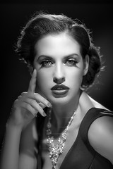 Intense (OwenLloyd) Tags: 1930s 1940s 3fs classic hollywood hotlights rayne rayneswan intensity portrait hardlight