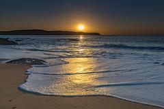 Golden Hour Suns Up Seascape (Merrillie) Tags: daybreak clearskies sunrise sun landscape nature dawn centralcoast morning sea northpearlbeach sky newsouthwales rocks pearlbeach nsw blue beach ocean earlymorning australia rocky coastal waterscape outdoors seascape waves coast water seaside