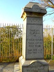 First Bride Grave Monument, South Ravine Park, Sioux City (ali eminov) Tags: siouxcity iowa parks southravinepark monuments firstbridemonument rosaliemenard signs