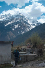 A Stop At The Watering Hole ([Kevin] [McCarthy]) Tags: mountain himalayan uttarakhand spring snow snowcap elevation hiking outdoor trekking nature beauty natural