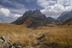 Juta Hike (E-C-K ART) Tags: georgia mountain sky blue hiking hike kazbegi juta autumn orange crops clouds rock nature lanscape grusja