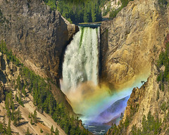 Rainbow Falls, Yellowstone NP (Valley Imagery) Tags: yellowstone national park usa sony a99ii canyon water icon landscape rainbow waterfall morning 70400gii nature