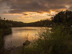 Nosenzo Pond_2608 (smack53) Tags: smack53 pond westmilford newjersey autumn autumnseason fall fallseason evening eveningsky paintedsky clouds cloudy cloudysky water lake nikon coolpix p7000 nikoncoolpixp7000 nikonp7000