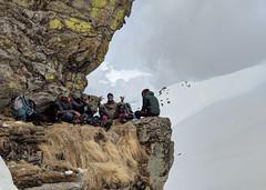 Snackin' & Peakin' ([Kevin] [McCarthy]) Tags: kuari uttarakhand india hiking trekking elevation pass snow snowcaps mountains himalayan nature snacks eat meals boys being men top