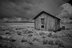 Storm Clouds at Cedar Pipeline Ranch (joeqc) Tags: nevada nv nye cedarpipelineranch area51 greytones monochrome mono bigsmoky black bw blancoynegro blackandwhite abandoned cabin ranch forgotten storm clouds fuji xf1024f4r xf1024mmf4rois xe3
