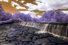The Wet Desert (Brian M Hale) Tags: linwood dam whitinsville ma mass massachusetts newengland usa outside outdoors waterfall longexposure long exposure ir infrared 590nm breakthrough filters brian hale brianhalephoto