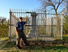 Ali by the First Bride Grave Monument, South Ravine Park (ali eminov) Tags: siouxcity iowa parks southravinepark monuments firstbridemonument rosaliemenard ali