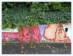 hesitations (overthemoon) Tags: switzerland suisse schweiz svizzera romandie vaud lausanne ruenelsonmandela graffiti tags colourful eracom