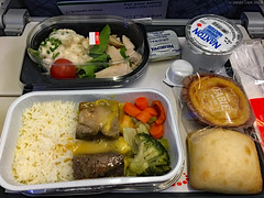 Dinner onboard Brussels Airlines SN552