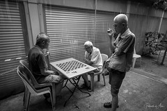 The Game 2 (rcoulstock) Tags: leica monochrom monochrome bw blackandwhite bnw singapore chinatown elderly men local life culture people street streetphotography