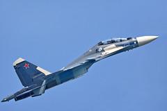 "Sukhoi Su-30SM Flanker-H RF-34013/""75 Blue"" (Nils Mosberg) Tags: sukhoisu30smflankerh russiannavalaviation zhukovsky maks2019 rf34013"
