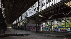 Werkhalle 2 (Panasonikon) Tags: panasonikon sonya6000 canon1018 fabrik graffiti lostplaces verfall industrie industry ruine niedergang