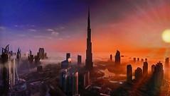 DUBAI at sunset (Jacques Rollet (Little Available)) Tags: dubai burjkhalifa