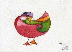 Bird n° 26 (Pax30091) Tags: aquarelle arches acuarela acquerello aguarela aquarell akvarel bird watercolour serie postcard