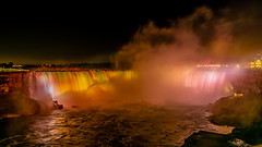 The Night Lights of Horseshoe Falls (RussellK2013) Tags: 2019 niagarafalls horseshoefalls night nightscape nightphotography ontario nikon nikkor ngc nature nationalgeographic nationalpark travel tripod longexposure d750 1635mmf4ged 1635mm 1635mmf4vr water waterscape naturalwonder waterfall