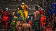Morning Rituals at the Ganges River #7 (felixvancakenberghe) Tags: asia asian gate hinduism india people religion varanasi women