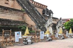 Wat Chedi Luang in Chiang Mai 5.9.2019 2113 (orangevolvobusdriver4u) Tags: archiv2019 2019 thailand totallythailand chiangmai norththailand temple tempel wat watchediluang chedi luang