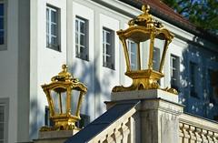 Munich - Golden Lanterns (cnmark) Tags: germany deutschland bavaria bayern münchen munich nymphenburg schloss palace palast golden goldene lanterns laternen staircase handrail ©allrightsreserved