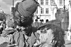 The Mad Hatter.... (markwilkins64) Tags: streetphotography street candid portraiture portrait blackandwhite bw mono monochrome hats mask london uk westminster markwilkins